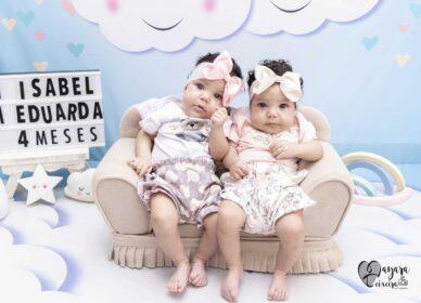 Maria Eduarda e Maria Isabel – 4 meses
